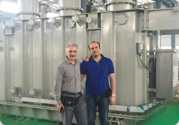 Iran , equipped with the 10 ton induction furnace project
